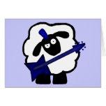Tarjetas de las ovejas del guitarrista