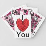 tarjetas de las tarjetas del día de San Valentín Barajas De Cartas