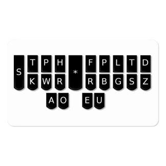 Tarjetas de llaves de la máquina de Steno del Tarjetas De Visita