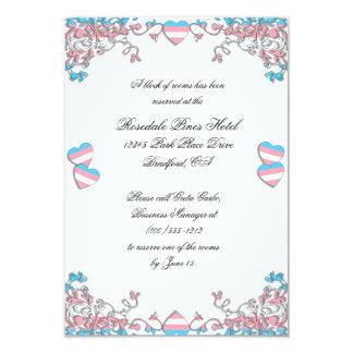"""Tarjetas de los alojamientos del boda del orgullo invitación 3.5"""" x 5"""""""