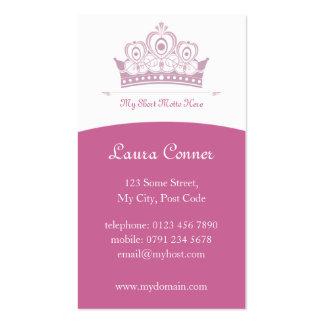 Tarjetas de los derechos/de la princesa visita tarjeta de negocio