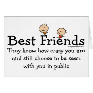 Tarjetas de los mejores amigos