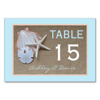Tarjetas de los números de la tabla del boda de la