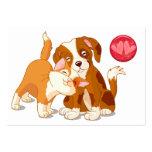 Tarjetas de los Pals del gato y del perro a distri Plantillas De Tarjetas De Visita