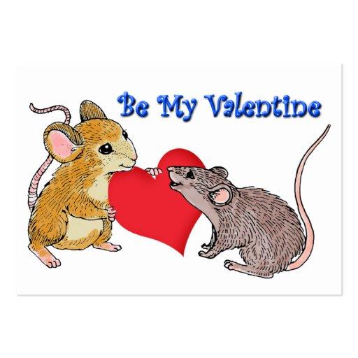 Tarjetas de los ratones de la tarjeta del día de S Tarjetas De Visita