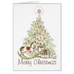 Tarjetas de los regalos y de las Felices Navidad d