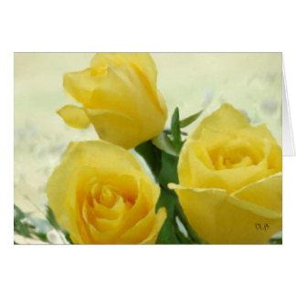 Tarjetas de los rosas amarillos