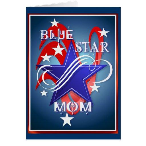 Tarjetas de lujo de la mamá de la estrella azul