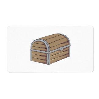 Tarjetas de madera antiguas de encargo del cofre etiquetas de envío
