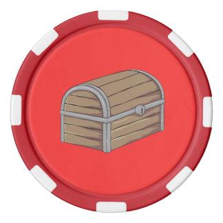 Tarjetas de madera antiguas de encargo del cofre juego de fichas de póquer