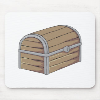Tarjetas de madera antiguas de encargo del cofre alfombrilla de raton