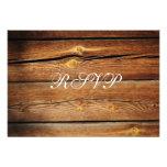 Tarjetas de madera de RSVP del granero rústico del Invitaciones Personalizada