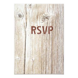 Tarjetas de madera de RSVP del granero rústico del Invitación 8,9 X 12,7 Cm