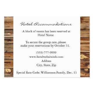 Tarjetas de madera rústicas del recinto del tarjetas de visita grandes