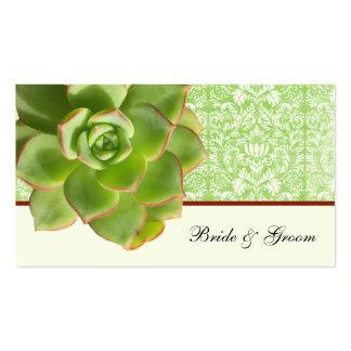 Tarjetas de marfil del lugar del damasco suculento tarjetas de visita
