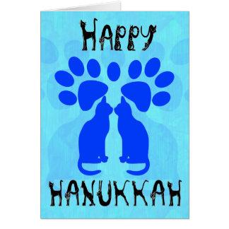 Tarjetas de Menorah Chanukah del gato