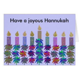 Tarjetas de Menorah de la flor de Hannukah