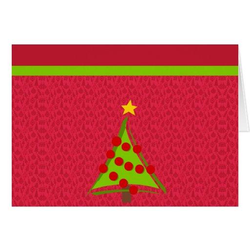 Tarjetas de modelo del árbol de navidad