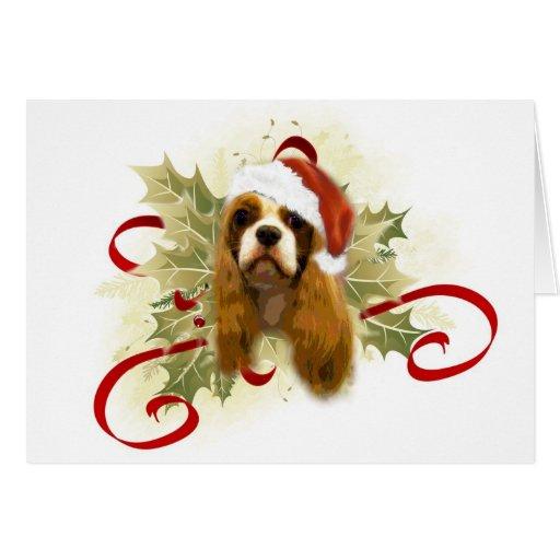 Tarjetas de Navidad arrogantes del perro de aguas