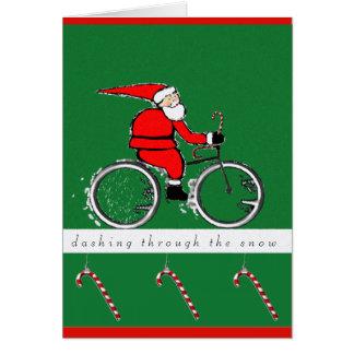 tarjetas de Navidad biking