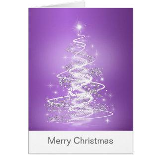 Tarjetas de Navidad con el árbol en púrpura