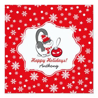 """Tarjetas de Navidad conocidas de la diversión del Invitación 5.25"""" X 5.25"""""""