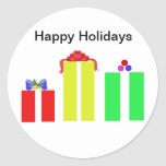 tarjetas de Navidad cristianas Etiquetas Redondas
