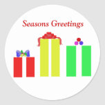 tarjetas de Navidad cristianas Pegatina Redonda