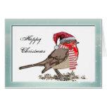 Tarjetas de Navidad Cute Robin Red Breast Company