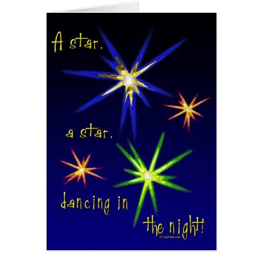 Tarjetas de Navidad de baile de las estrellas