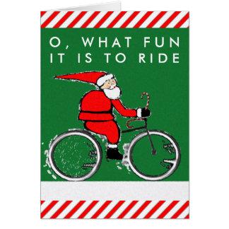 tarjetas de Navidad de la bicicleta