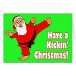 Tarjetas de Navidad de la correa negra de Kickin S
