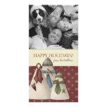 Tarjetas de Navidad de la foto de familia Tarjeta Con Foto Personalizada