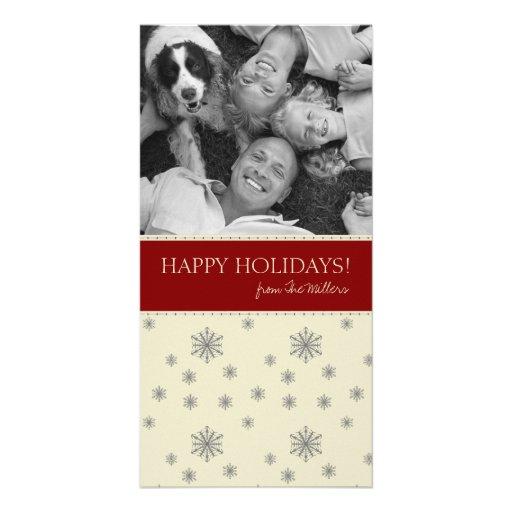 Tarjetas de Navidad de la foto de familia Tarjeta Fotografica