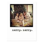 tarjetas de Navidad de la foto del instagram Postal