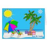 Tarjetas de Navidad de la playa de la Florida con