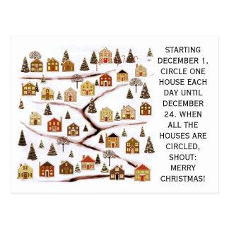 tarjetas de Navidad de las propiedades Tarjeta Postal