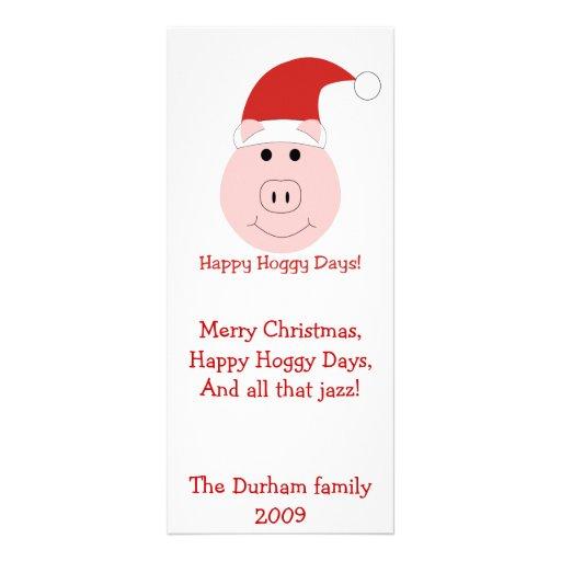Tarjetas de Navidad de los días de Hoggy e inmóvil Plantillas De Lonas