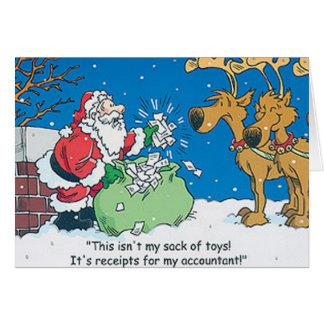 Tarjetas de Navidad de Repceits del contable de Sa