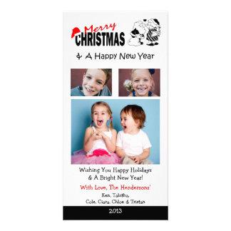 Tarjetas de Navidad de X4 Funnny Tarjetas Fotograficas