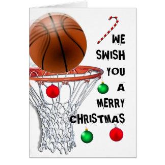 tarjetas de Navidad del baloncesto