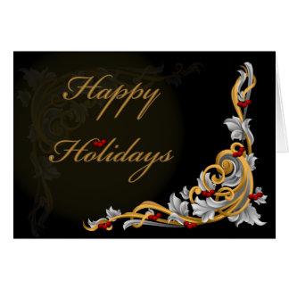 tarjetas de Navidad del berriesCorporate del acebo