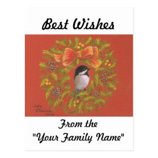 Tarjetas de Navidad del Chickadee Tarjeta Postal