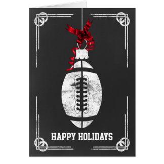 tarjetas de Navidad del futbolista de la pizarra