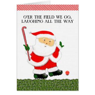 tarjetas de Navidad del hockey hierba
