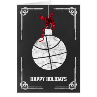 tarjetas de Navidad del jugador de básquet de la