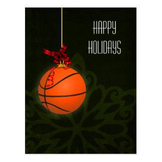 tarjetas de Navidad del jugador de básquet Postales