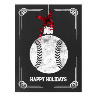 tarjetas de Navidad del jugador de béisbol de la p Postales
