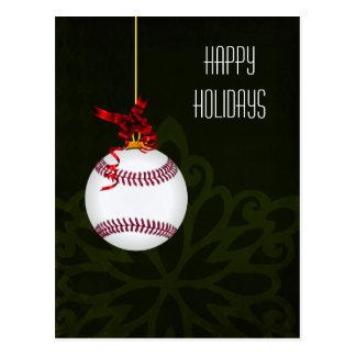 tarjetas de Navidad del jugador de béisbol Tarjetas Postales