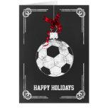 tarjetas de Navidad del jugador de fútbol de la